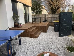 Création d'une terrassesurélevée