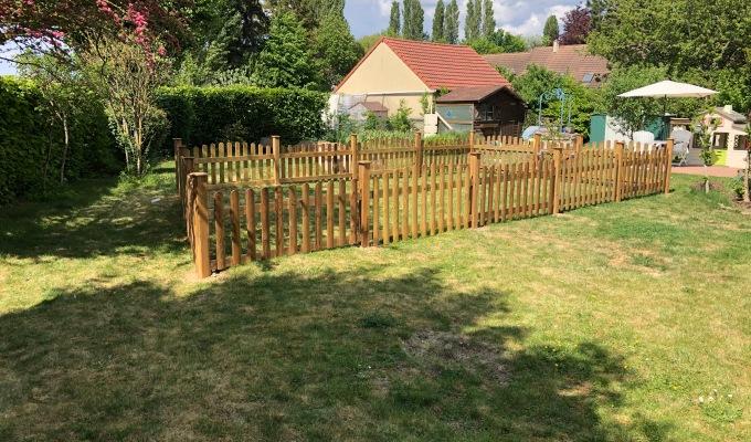 Clôture bois pour parcs d'enfantsextérieur
