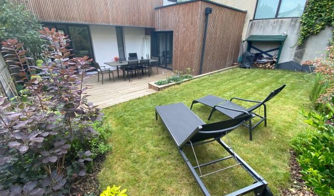 Jardin, Terrasse et bac bois,parement.